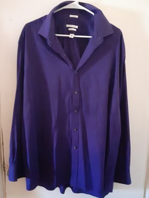 Van Heusen classic fit pincord purple button-down long-sleeve for Sale in St. Petersburg, FL