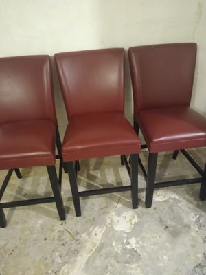 Three bar stools 24 inch seat height..like new for Sale in Baltimore, MD