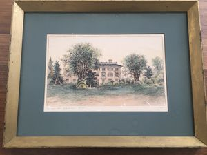 Early 1900's Fagin & Mercier Hand Colored Etching for Sale in Joliet, IL