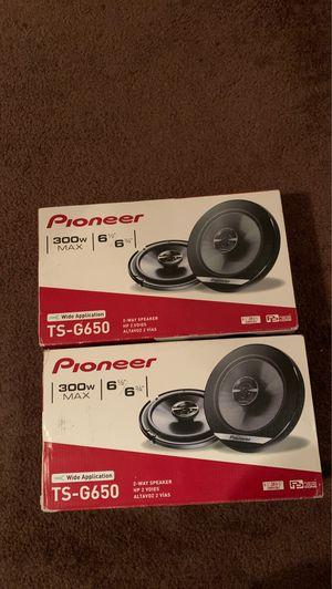 Pioneer TS-G650 Serie G - Altavoces de coche (2 vías, con conos compuestos IMPP, 2 unidades por caja),color gris oscuro for Sale in Washington, DC