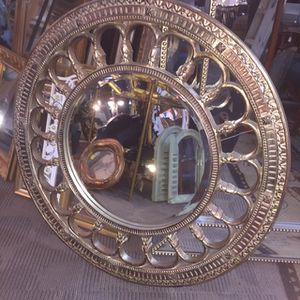 Ornate Round Gold Beveled Mirror for Sale in San Diego, CA