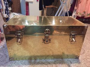 Brass cedar lined trunk for Sale in Orondo, WA