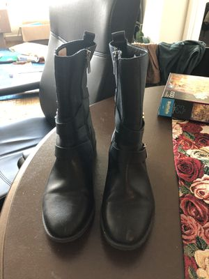 Calvin Klein Women's motorcycle boots - black size 9 for Sale in Washington, DC