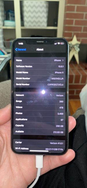 iPhone X 256gb for Sale in Hebron, MD