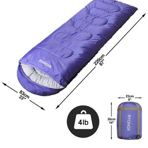 RYONGII Cool Weather Sleeping Bag for Adults Teens Kids - 4 Seasons Portable Lightweight Waterproof Youth for Indoor & Outdoor, Camping and Backpackin for Sale in Brooklyn, NY