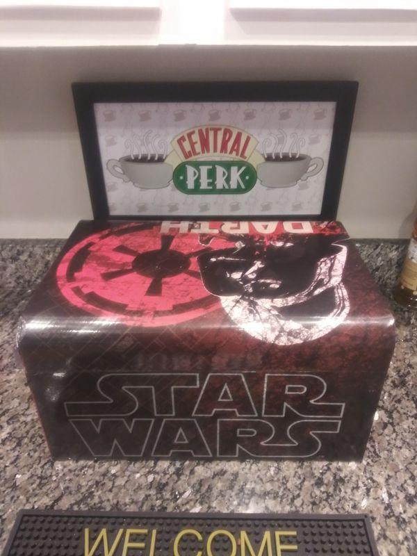"Darth Vader storage treasure set Star Wars Darth Vader storage treasure set Keepsake Box Great shape. 16x9"""