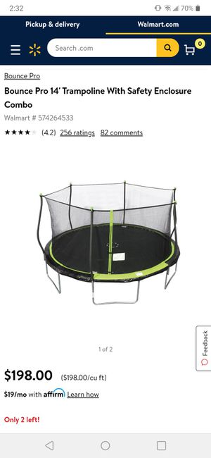 14' trampoline with safety net for Sale in Sacramento, CA