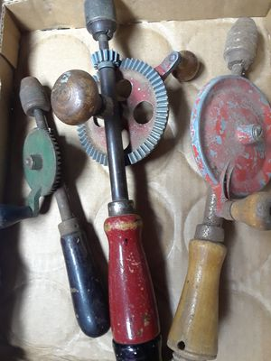 Box of old Hand Drills for Sale in Plainfield, IL