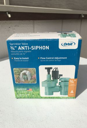 "Orbit 3/4"" Anti- Siphon Sprinkler Valve for Sale in Henderson, NV"