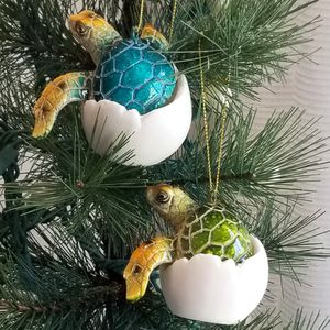 "CHRISTMAS IN JULY SPECIAL! Pair (2) New! 4 1/4"" Baby Turtle Ornaments Coastal Nautical for Sale in Miami, FL"