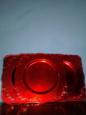 RUBY REDS : Plate Charger SET, Acrylic for Sale in Raleigh, NC