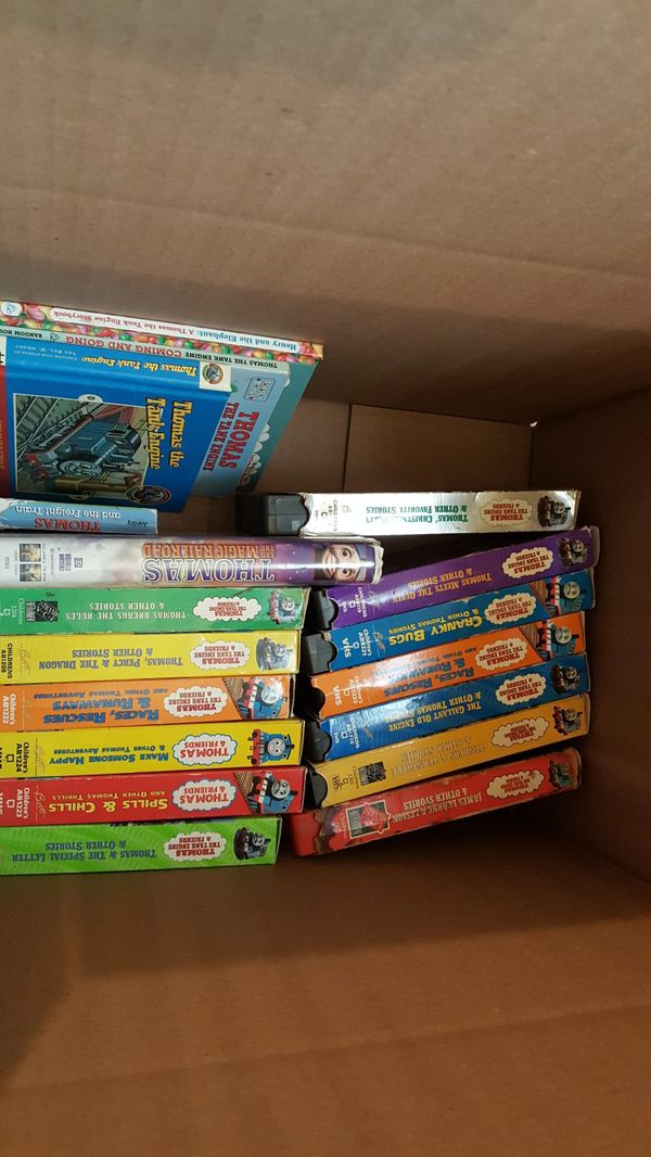 Thomas the tank engine VHS and books...lot