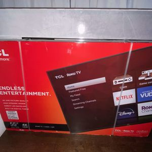 """BRAND NEW TCL 55"""" Class 4K UHD HDR LED Roku Smart Tv for Sale in Dallas, TX"""