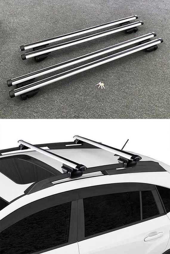 """(NEW) 2 Sizes: (48"""" for $40), (55"""" for $45) Universal Car Cross Bar Top Luggage Roof Rack Cargo Carrier"""