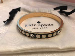 KATE SPADE ♠️ NEW YORK BLACK WHITE GOLD RHINESTONE BANGLE BRACELET for Sale in Winter Springs, FL