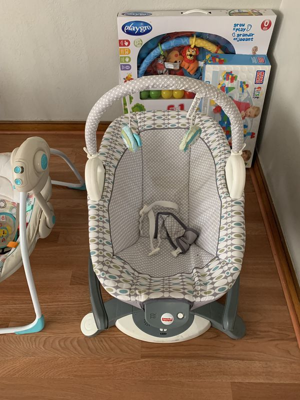 Baby swings and bassinet