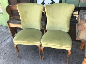 Pair of vintage chairs open 12 to 5 Wednesday Thursday Friday Saturday for Sale in San Diego, CA