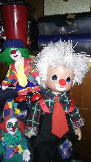 Precious Moments w/ Two porcelain clowns... for Sale in Sacramento, CA