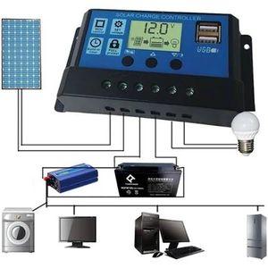 30A 12V/ 24V Solar Charge Controller Generator With USB Ports Backlight Display Home Solar Panel Battery Intelligent Regulator for Sale in Burlington, NJ
