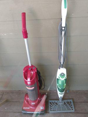 Dirt devil bagless vacuum+shark steam mop for Sale in College Park, GA