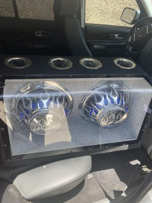"Subwoofer box with 12"" Audiobahn speakers for Sale in Phoenix, AZ"