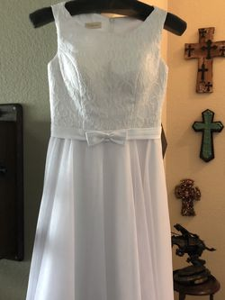 Teen Fancy White Dress size 2/4 for Sale in Argyle,  TX