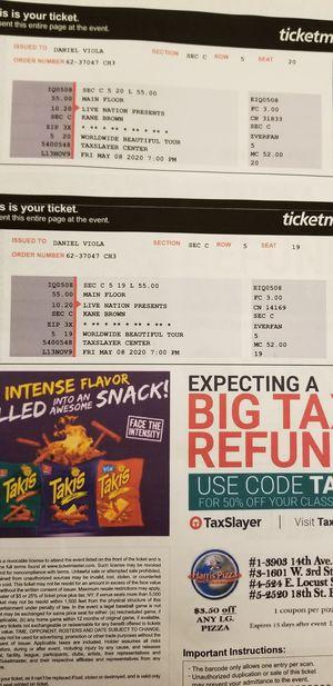 Kane brown tickets for Sale in Oak Lawn, IL