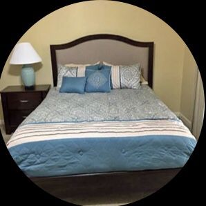 queen bed room set 2 nightstand and bed frame comes with mattress for Sale in Roswell, GA