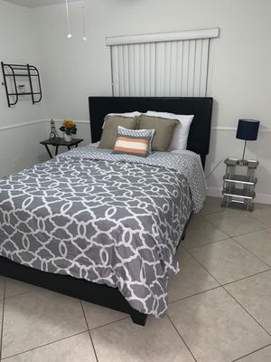 New black bed frames with mattresses FREE DELIVERY twin 245$ full 280$ queen 290$ for Sale in Hollywood, FL