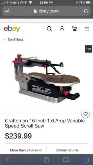 "Craftsman's Scroll Saw. 16"" variable speed control for Sale in Las Vegas, NV"