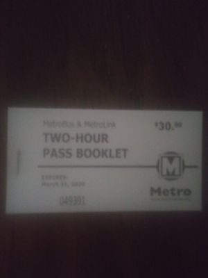 Brand-new book of bus tickets. Adults for Sale in St. Louis, MO