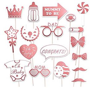 18 piece photo booth props for baby shower / party for Sale in Suisun City, CA