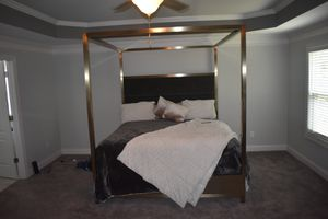 MONOCO GOLD AND GREY KING BED FRAME for Sale in Atlanta, GA