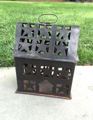 Metal candle holder. Home decor. Less than a ft wide for Sale in Fresno, CA