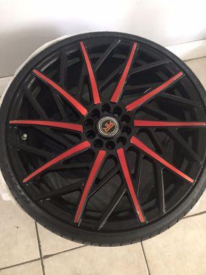 "20"" Revolution Racing rims w/ 2 low profile nexxen tired for Sale in Sunrise, FL"