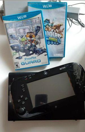 Nintendo Wii U Black 32gb Console Bundle w/Gamepad & 2 Games - read Description for Sale in Indianapolis, IN