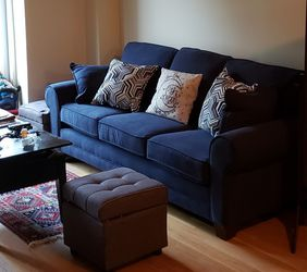 Navy Couch Minus Pillows for Sale in Brooklyn,  NY