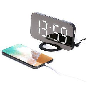 Digital Alarm Clock - Stylish led Clock with 2 USB Ports - 6.5 inch Display Stylish led with Automatic Brightness Control. ***NEW for Sale in Miami Beach, FL