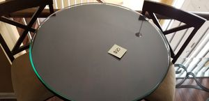 Breakfast Nook table w/glass top w/ high stool chairs. for Sale in Austell, GA