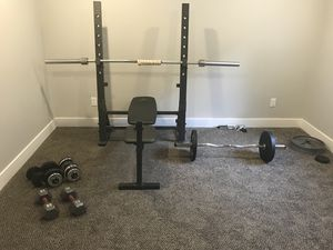 Weight bench and weights for Sale in West Valley City, UT