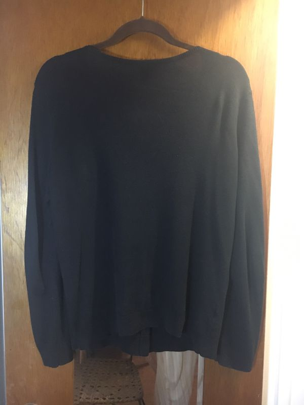 Ann Taylor Cardigan Sweater size L Black