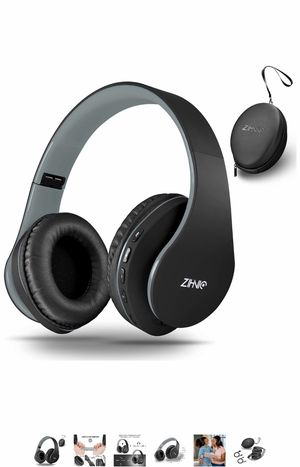 Bluetooth Headphones Over-Ear, Zihnic Foldable Wireless and Wired Stereo Headset Micro SD/TF, FM for Cell Phone,PC,Soft Earmuffs &Light Weight for Pr for Sale in Elkridge, MD
