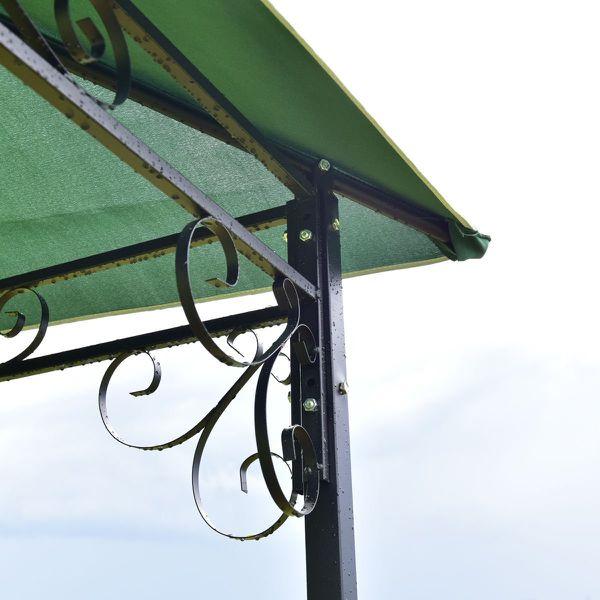Free delivry- Outdoor Patio Table Metal Gazebo Metal Vented Garden Canopy Backyard BBQ Umbrella Sun Shed Shade Ez Up Tent
