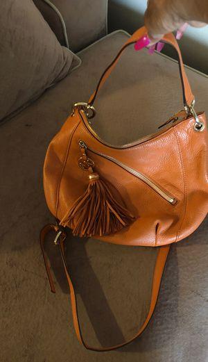 How orange Leather Michael Kors bag Excellent condition for Sale in Detroit, MI