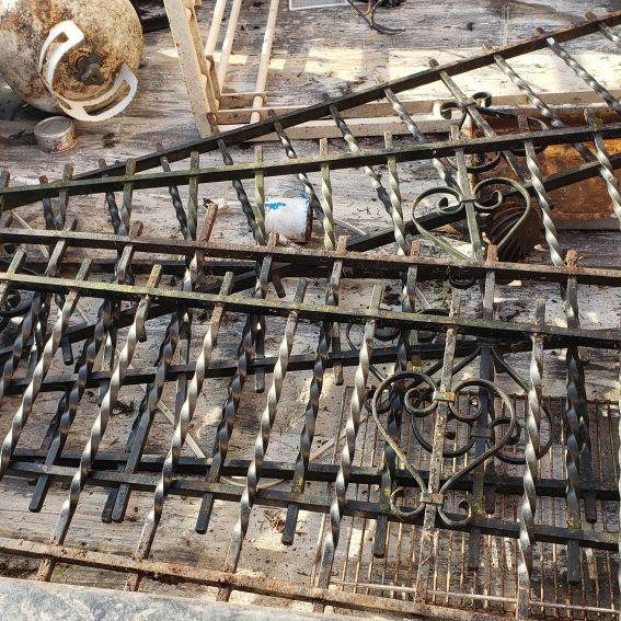 Rought Iron Fence Rail .. $20ea