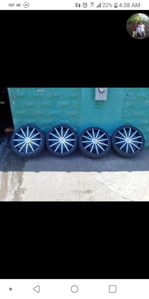 """Starr 24 """" rims and low profile tires for Sale in Pawtucket, RI"""