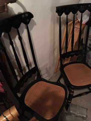 Antique Hancock chairs plus Harvest Table & 6 dining chairs for Sale in Denver, CO