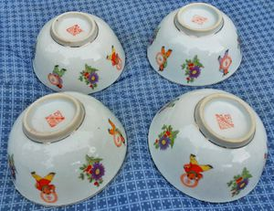 4 Republic of china Chinese porcelain rice bowls for Sale in Saginaw, MI
