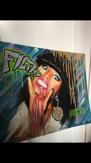 Authentic Nicki Manaj painting for Sale in HILLTOP MALL, CA