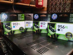 HP Printer Ink- 952XL (Cyan / Yellow/Magenta) & 956XL (Black) for Sale in Modesto, CA